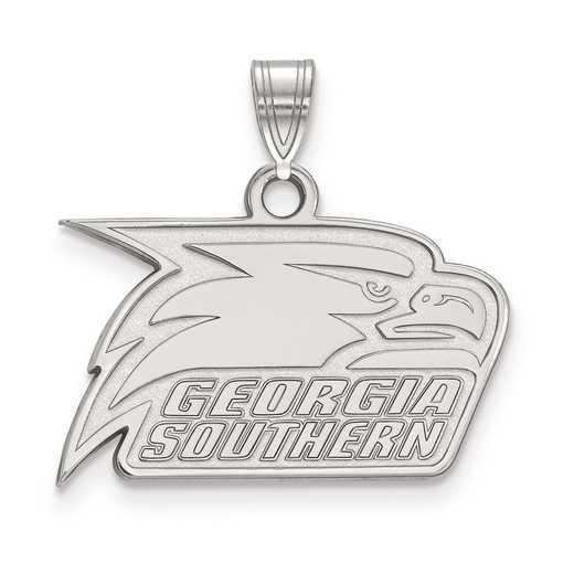 SS005GSU: SS LogoArt Georgia Southern University Small Pendant