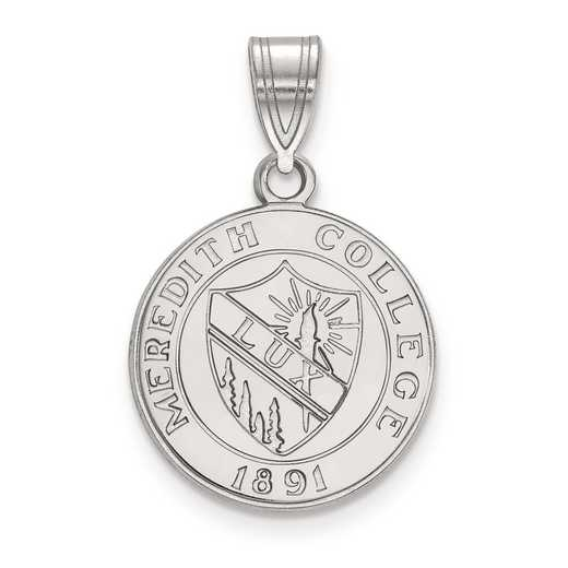 SS005MER: S S LogoArt Meredith College Medium Crest Pend