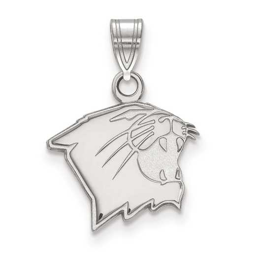 SS005NWU: SS LogoArt Northwestern University Small Pendant
