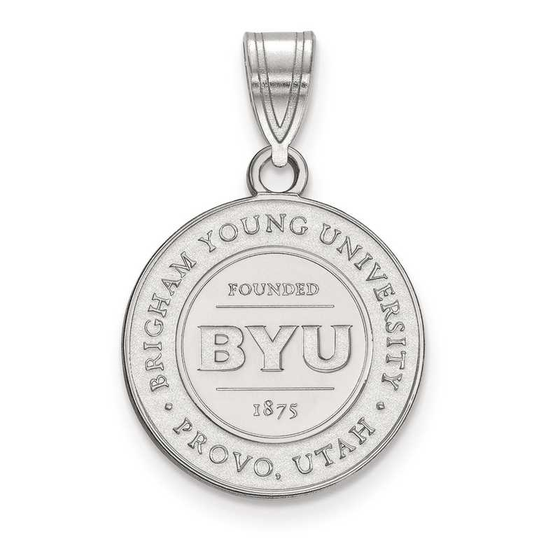 SS007BYU: S S LogoArt Brigham Young University Medium Crest Pend