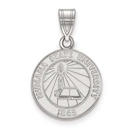 SS007ISU: S S LogoArt Indiana State University Medium Crest Pend