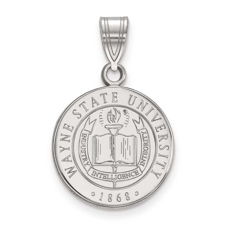 SS007WAY: S S LogoArt Wayne State University Medium Crest Pend