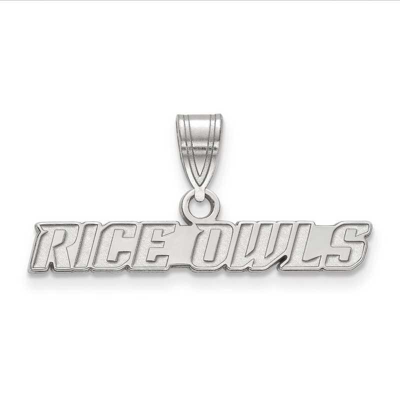 SS007WMR: SS LogoArt Rice University Medium Crest PEND