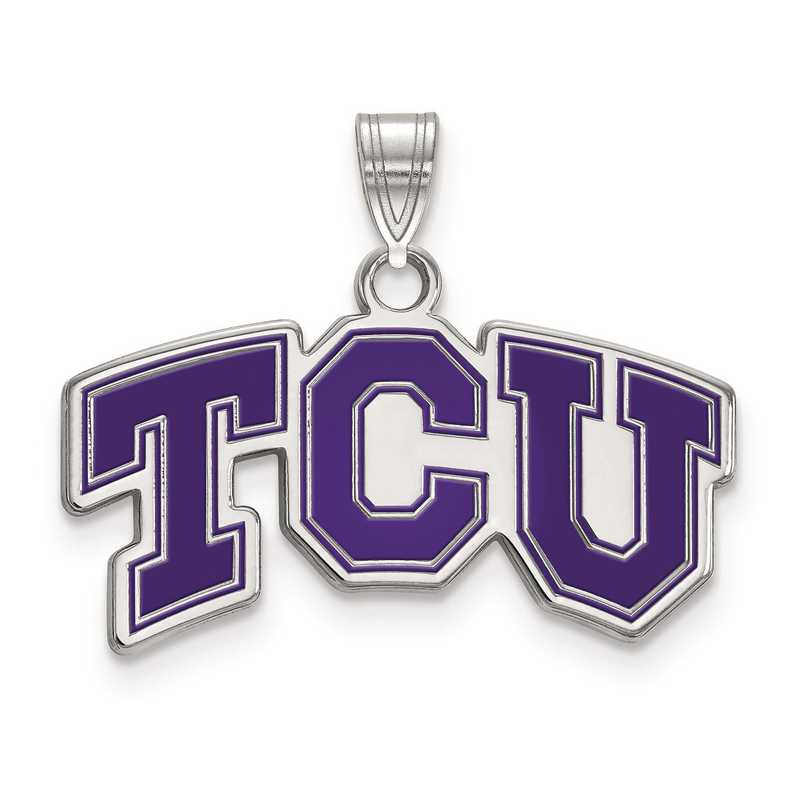 SS010TCU: S S LogoArt Texas Christian University Small Enamel Pend