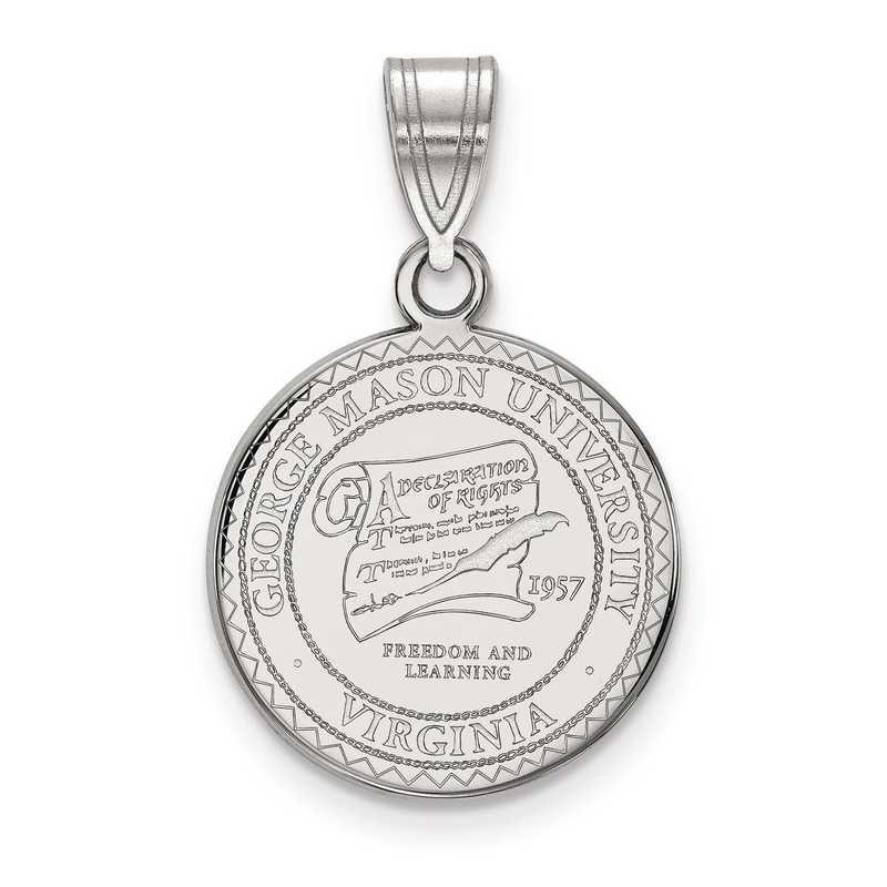 SS013GMU: S S LogoArt George Mason University Medium Crest Pend