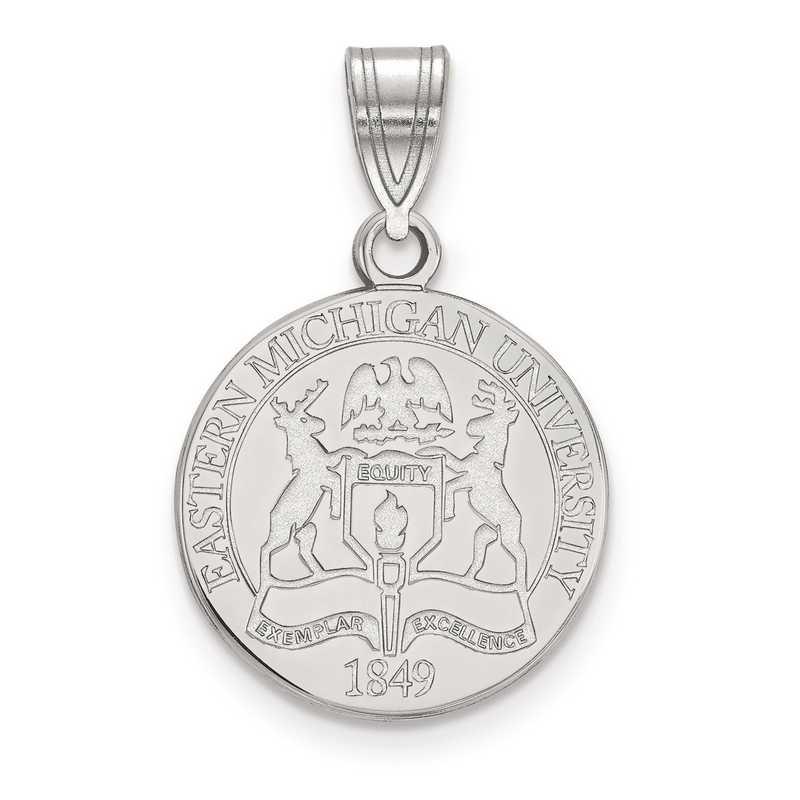 SS015EMU: S S LogoArt Eastern Michigan University Medium Crest Pend