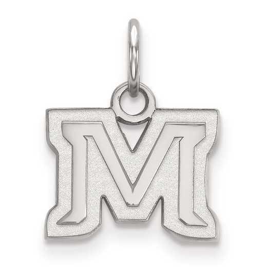 SS015MTU: SS LogoArt Montana State University XS Pendant