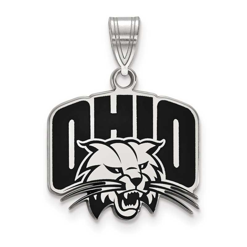SS016OU: S S LogoArt Ohio University Medium Enamel Pend