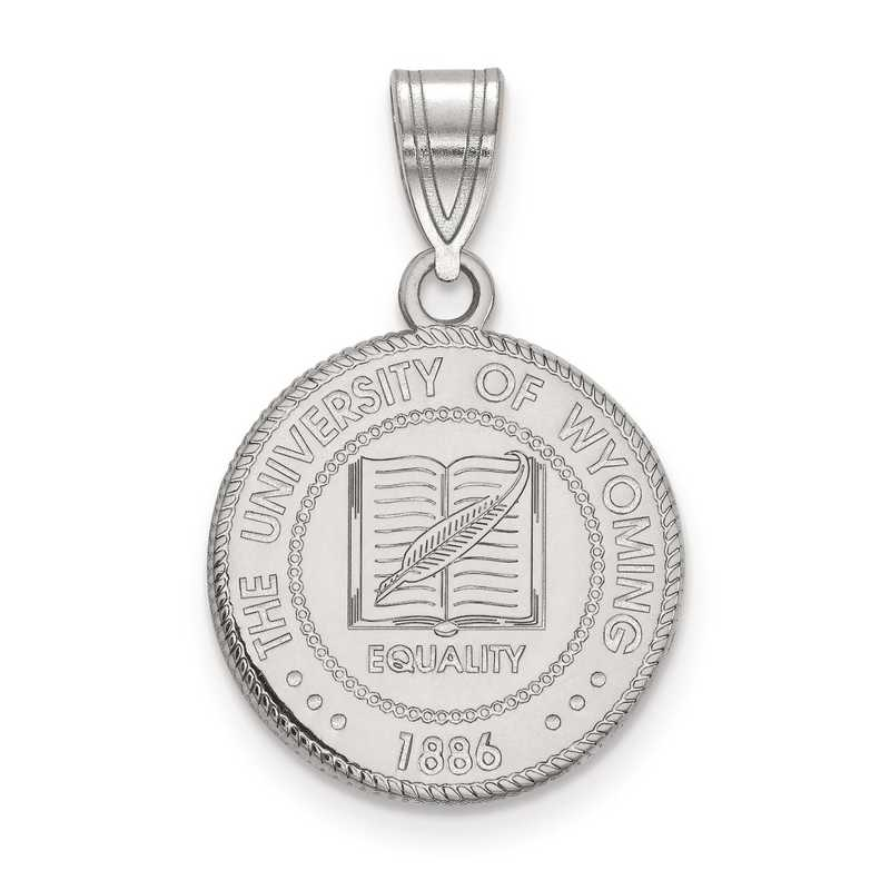 SS017UWY: S S LogoArt The University of Wyoming Medium Crest Pend