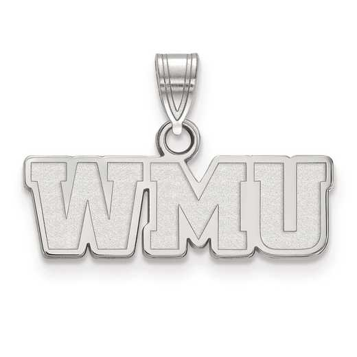 SS017WMU: SS LogoArt Western Michigan University Small PEND