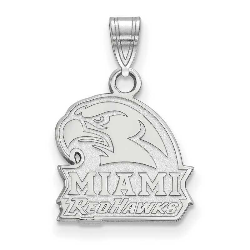 SS020MU: SS LogoArt Miami University Small Pendant