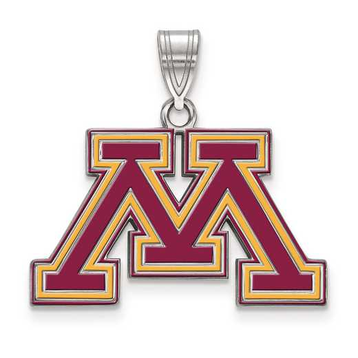 SS021UMN: S S LogoArt University of Minnesota Medium Enamel Pend