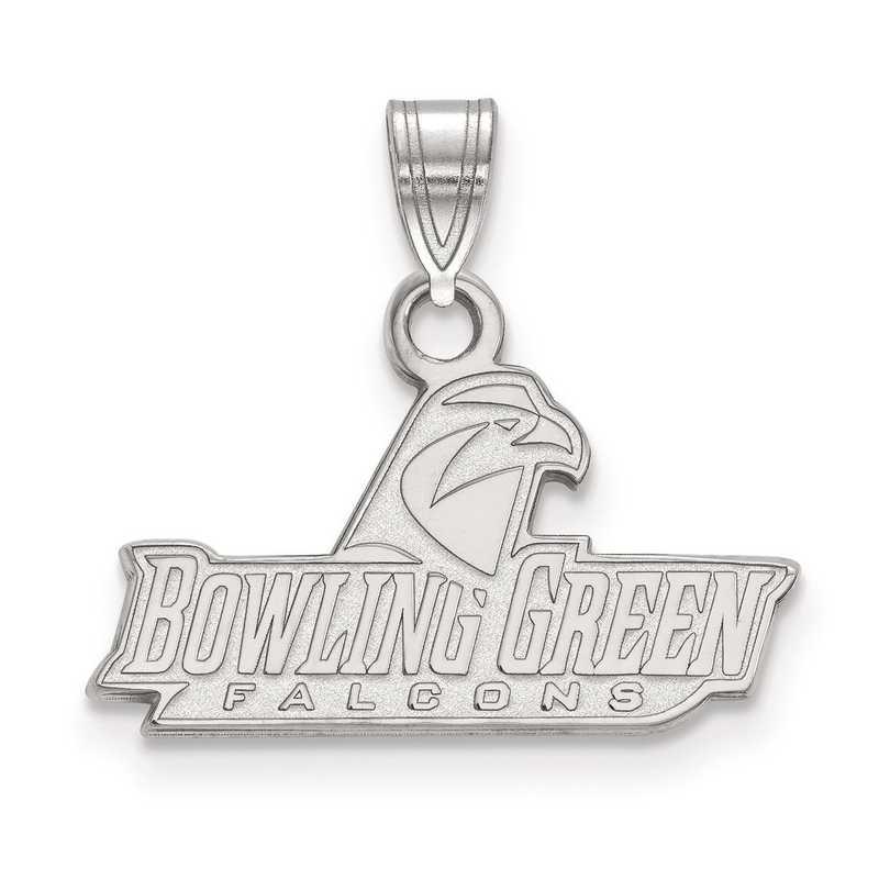 SS022BG: SS LogoArt Bowling Green State University Small Pendant