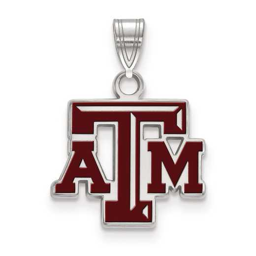 SS025TAM: S S LogoArt Texas A&M University Small Enamel Pend