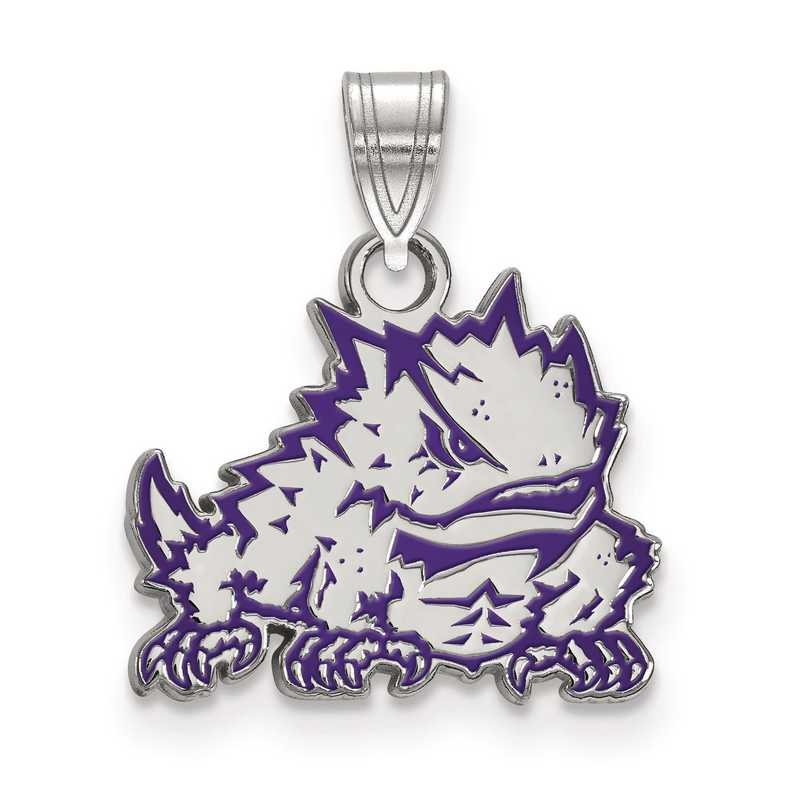SS026TCU: S S LogoArt Texas Christian University Small Enamel Pend