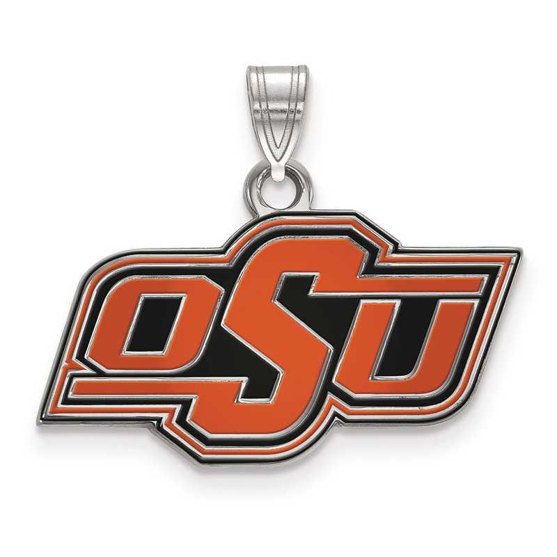 SS030OKS: S S LogoArt Oklahoma State University Small Enamel Pend