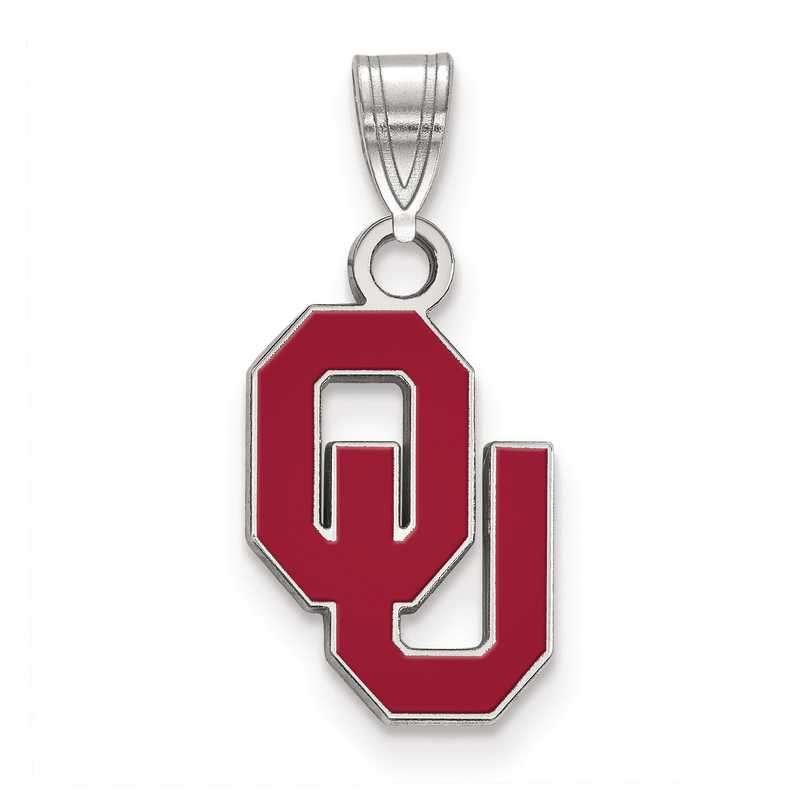 SS030UOK: S S LogoArt University of Oklahoma Small Enamel Pend