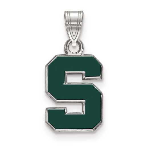 SS031MIS: S S LogoArt Michigan State University Small Enamel Pend