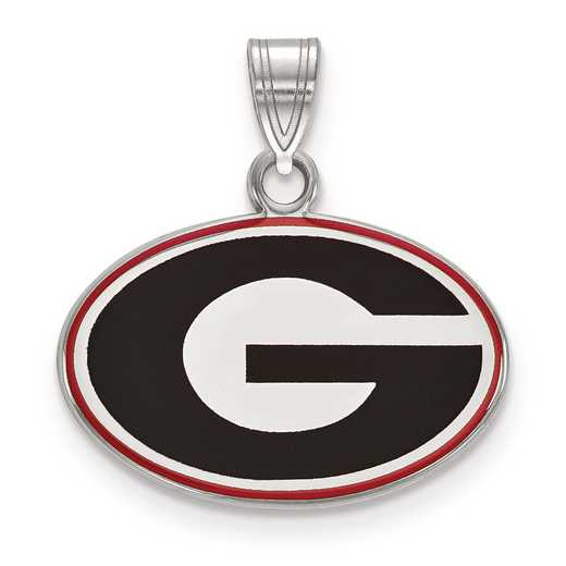 SS031UGA: S S LogoArt University of Georgia Small Enamel Pend