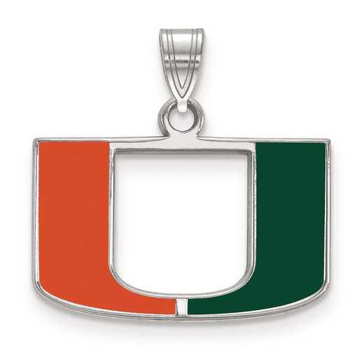 SS031UMF: S S LogoArt University of Miami Small Enamel Pend