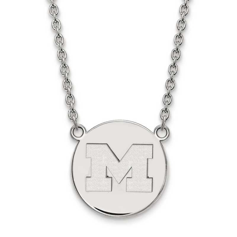 SS040UM-18: S S LogoArt Michigan (Univ Of) Large Disc w/Neck