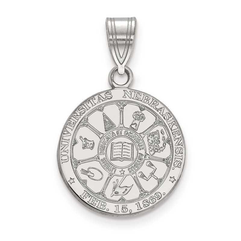 SS043UNE: S S LogoArt University of Nebraska Medium Crest Pend