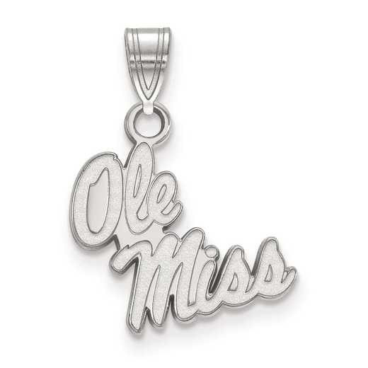 SS044UMS: SS LogoArt University of Mississippi Small PEND