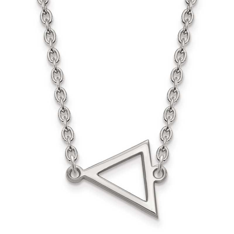 SS045MU-18: SS LogoArt Miami University Small Triangle PEND w/ Necklace