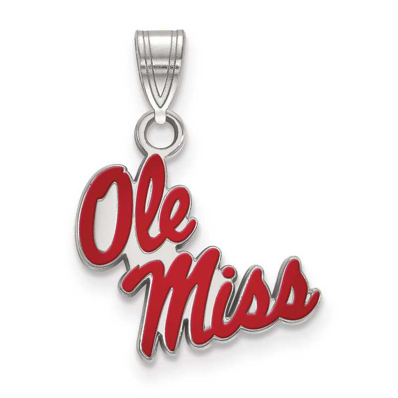 SS056UMS: S S LogoArt University of Mississippi Small Enamel Pend