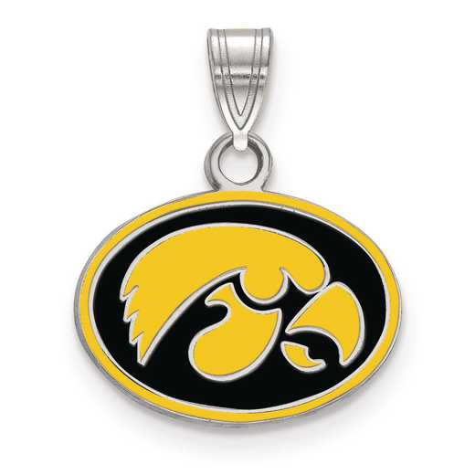 SS059UIA: S S LogoArt University of Iowa Small Enamel Pend
