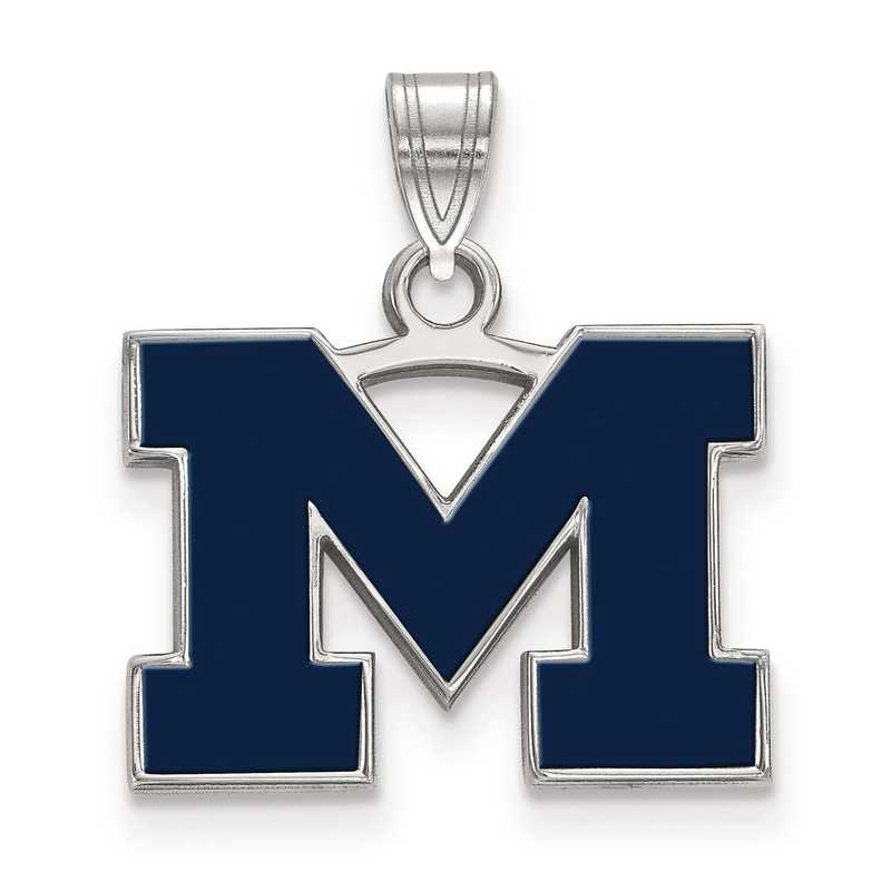 SS061UM: S S LogoArt Michigan (Univ Of) Small Blue Enamel Pend