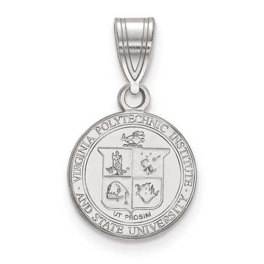 SS062VTE: S S LogoArt Virginia Tech Small Crest Pend