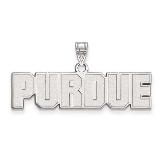SS067PU: SS LogoArt Purdue Small Pendant