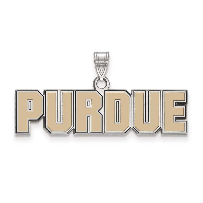 SS074PU: S S LogoArt Purdue Small Enamel Pend