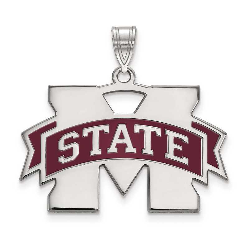 SS076MSS: S S LogoArt Mississippi State University Small Enamel Pend