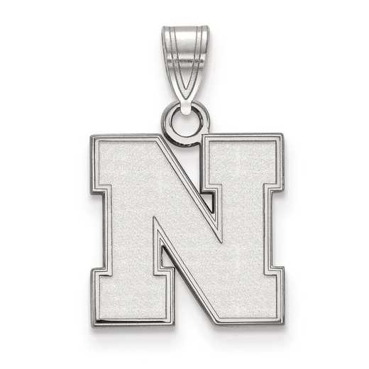 SS084UNE: SS LogoArt University of Nebraska Small PEND