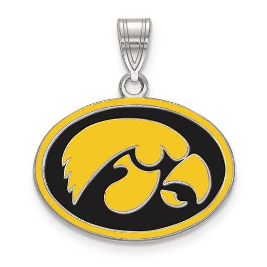 SS086UIA: S S LogoArt University of Iowa Medium Enamel Pend