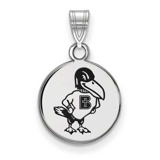 SS001BNC: SS LogoArt Benedictine College Small Enameled Disc Pendant