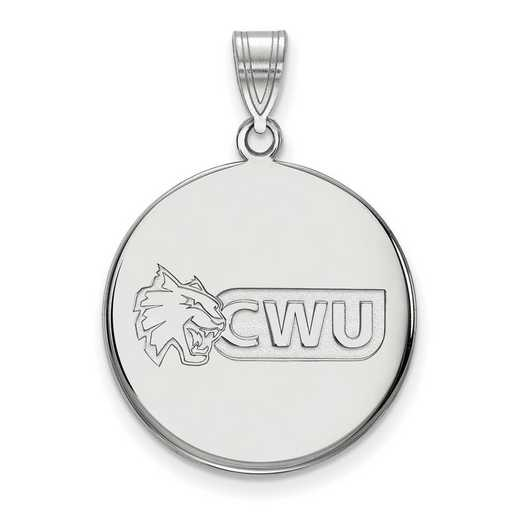 SS001CWU: SS LogoArt Central Washington Univ LG Disc Pendant