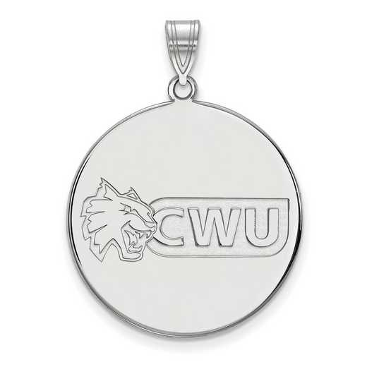 SS002CWU: SS LogoArt Central Washington Univ XL Disc Pendant