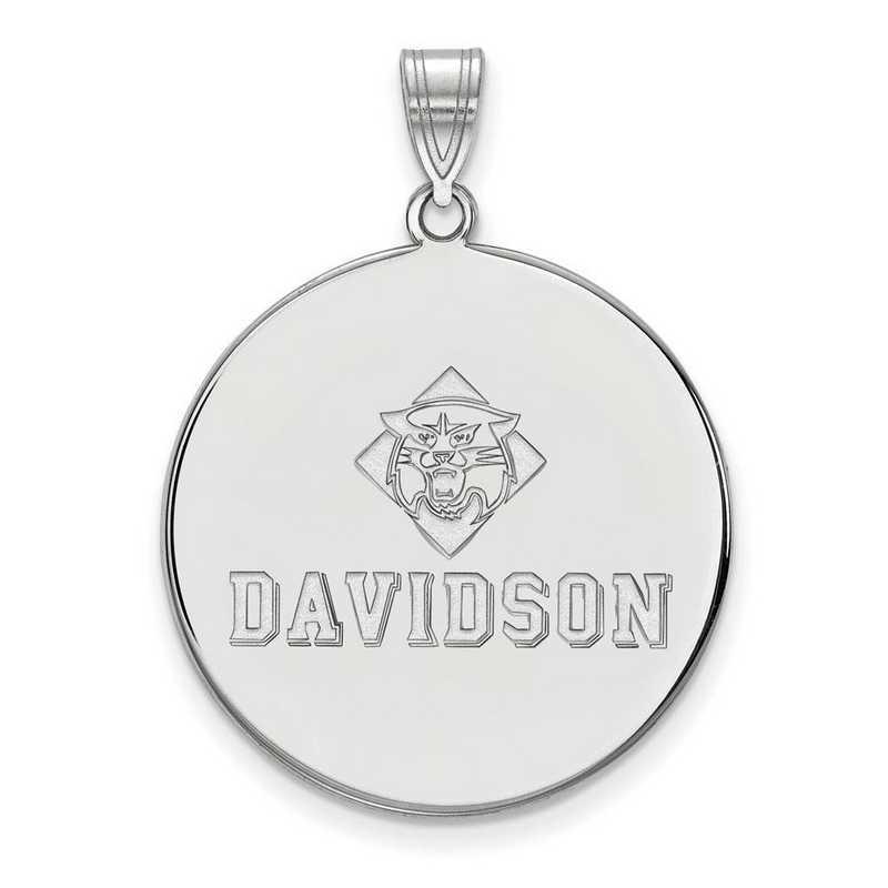 SS002DAV: SS LogoArt Davidson College XL Disc Pendant