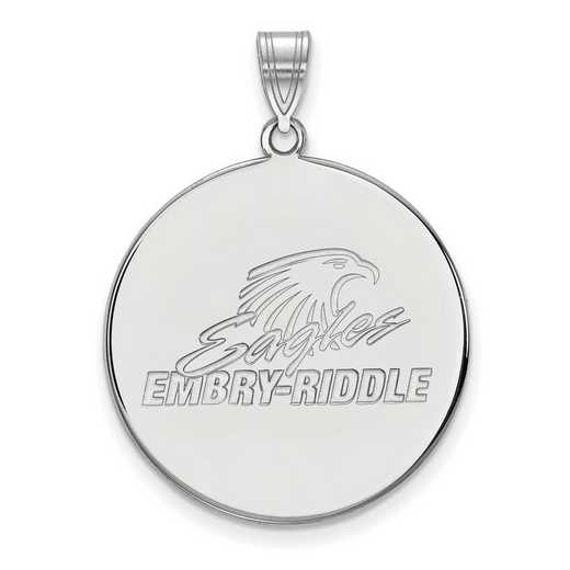 SS002ERA: SS LogoArt Embry-Riddle XL Disc Pendant