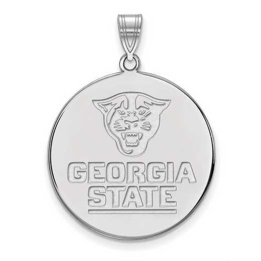 SS002GAS: SS LogoArt Georgia St Univ XL Disc Pendant
