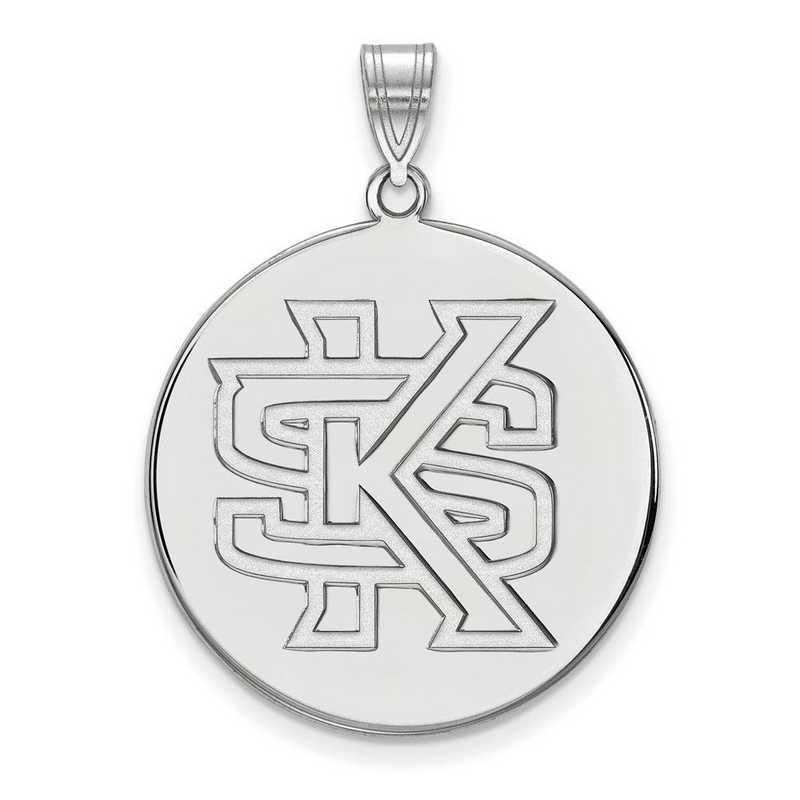SS002KES: SS LogoArt Kennesaw St XL Disc Pendant