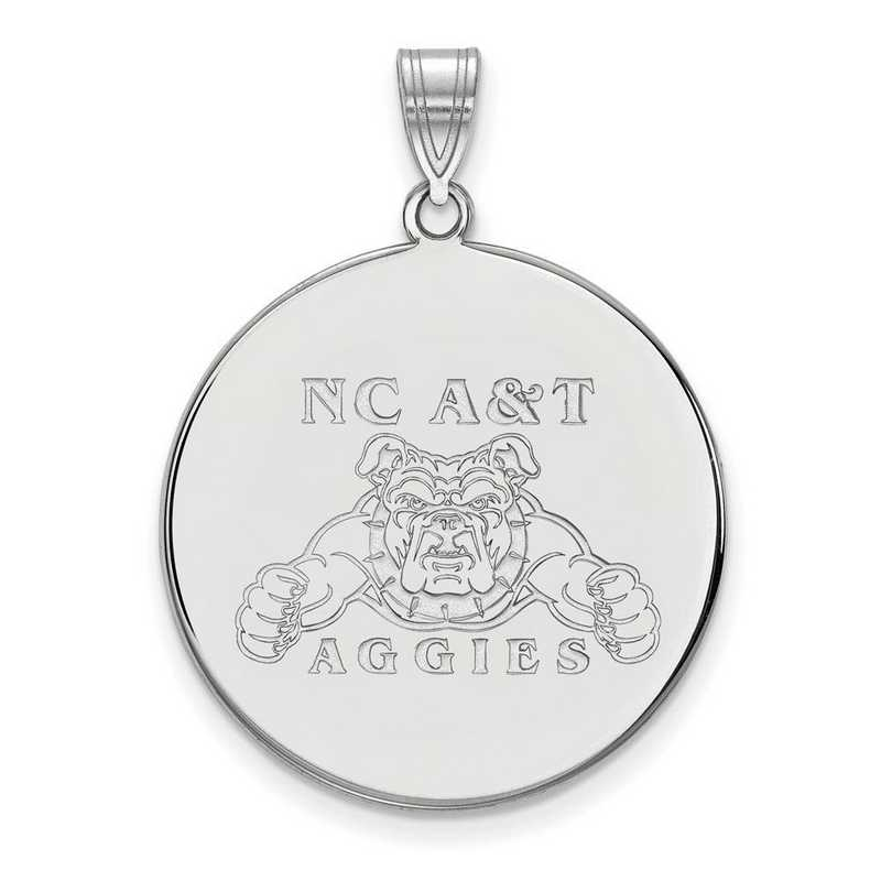 SS002NCA: SS LogoArt North Carolina A&T XL Disc Pendant