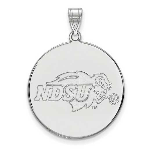 SS002NDS: SS LogoArt North Dakota St XL Disc Pendant