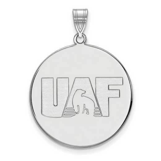 SS002UAF: SS LogoArt Univ of Alaska Fairbanks XL Disc Pendant