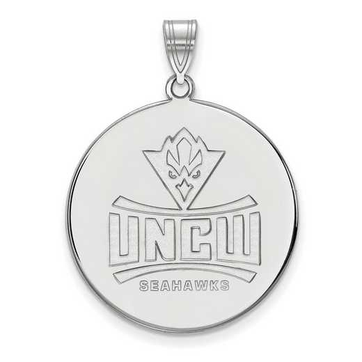 SS002UNCW: SS LogoArt North Carolina Wilmington U of XL Disc Pendant
