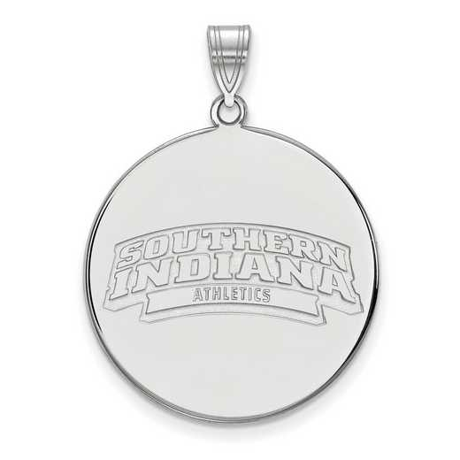 SS002USI: SS LogoArt Univ of South Indiana XL Disc Pendant