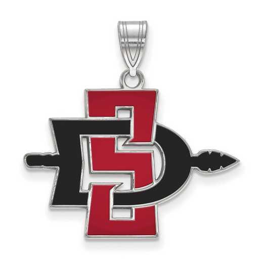 SS006SDS: SS LogoArt San Diego St Univ LG Enamel Pendant